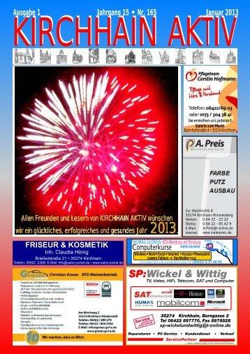 Ausgabe 1 Jahrgang 15 • Nr. 165 Januar 2013 - Glorius, Kirchhain ...