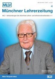 Münchner Lehrerzeitung - BLLV