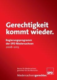 Regierungsprogramm der SPD Niedersachsen 2008–2013 ...