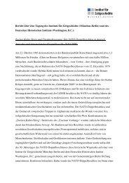 Zweiter Kalter Krieg und Friedensbewegung - Institut für ...