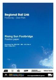 Rising Sun footbridge position paper - Regional Rail Link
