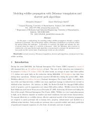Modeling wildfire propagation with Delaunay triangulation and ...