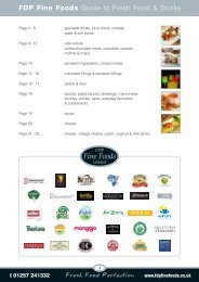 FDP Fine Foods Guide to Fresh Food