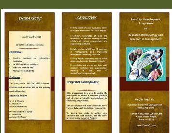 DURATION: - Symbiosis Centre for Management Studies