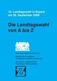 Die Landtagswahl von A bis Z - Bayerisches Landesamt für Statistik ...