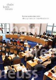 Kommunalwahl 2004: Alle Ergebnisse im Rhein-Kreis Neuss