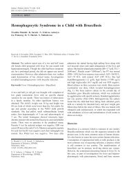 Hemophagocytic Syndrome in a Child with Brucellosis - medIND