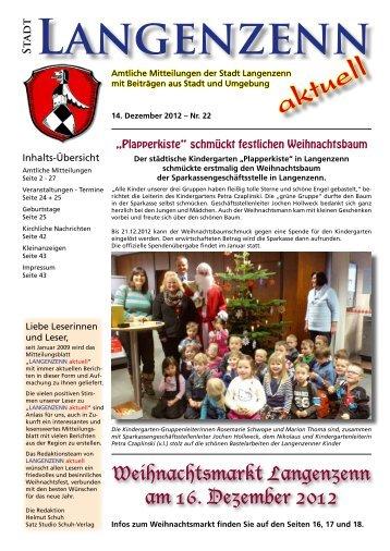 Ausgabe Nr. 22 vom 14.12.2012 Seite 01 - Langenzenn