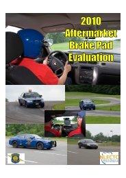 2010 Aftermarket Brake Pad Evaluation - Jan. 4 ... - State of Michigan