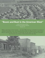 Boom and Bust - Center of the American West