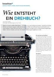 Wie ENTSTEHT EIN DREHBUCH? - markus stromiedel