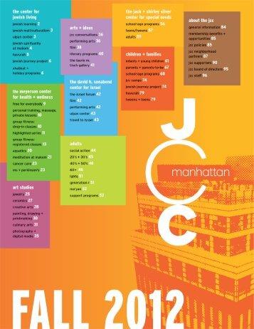 fall 2012 program guide (PDF) - The JCC in Manhattan