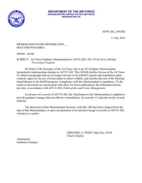 MEMORANDUM FOR A1 - Air Force E-Publishing