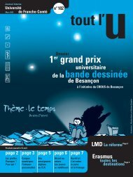 Tout l'U n° 102 - Magazine tout l'Ufc - Université de Franche-Comté