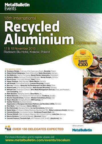 Recycled Aluminium - Metal Bulletin Store