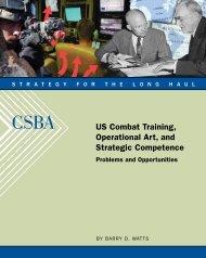 US Combat Training, Operational Art, and Strategic Competence