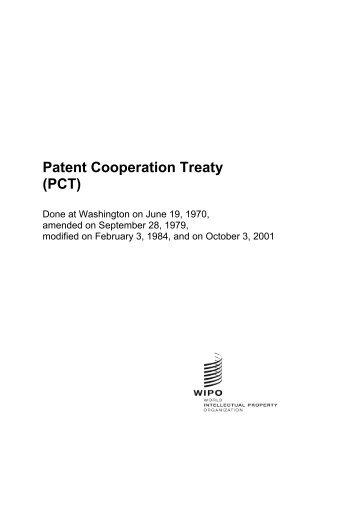Patent Cooperation Treaty - World Intellectual Property Organization