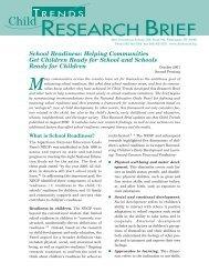 School Readiness: Helping Communities Get ... - Child Trends