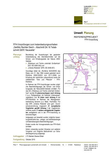 Umwelt Planung - Plan T