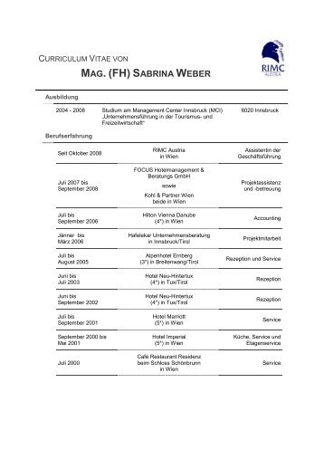 MAG. (FH) S - RIMC Austria
