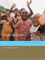 Broschüre Wasser ist Leben - Stiftung St.Martin