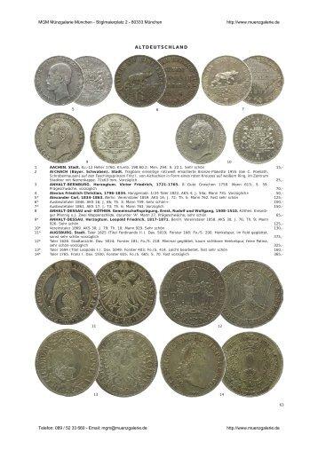 Altdeutsche Münzen Und Medaillen Mgm Münzgalerie