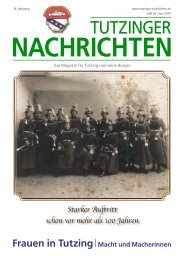 Download Heft 06 / Juni 2010 - Tutzinger Nachrichten