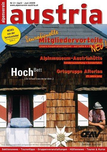 Alpenverein Austria 2/2009 - Österreichischer Alpenverein Wien
