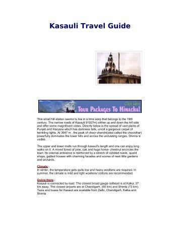 Kasauli Travel Guide
