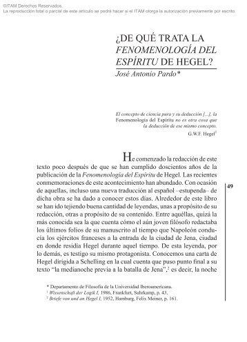 Fenomenología del espíritu - Biblioteca - ITAM
