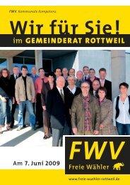 Wir für Sie! im GEMEINDERAT ROTTWEIL - freie-waehler-rottweil.de