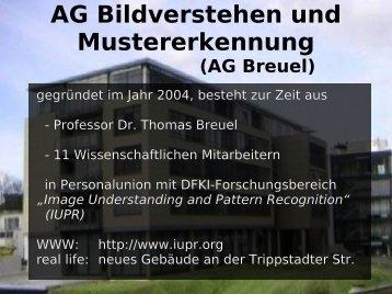 AG Bildverstehen und Mustererkennung (AG Breuel)