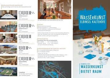 Tagungsflyer Wasserkunst bietet Raum - Wasserkunst-Hamburg