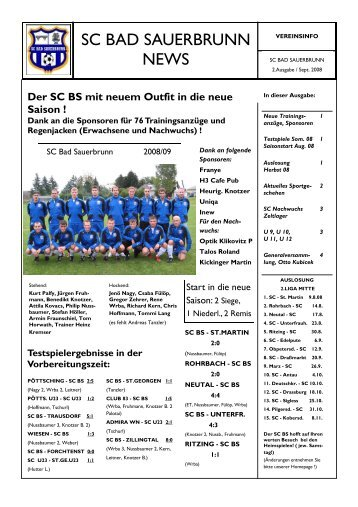 2.Ausgabe - SC Bad Sauerbrunn