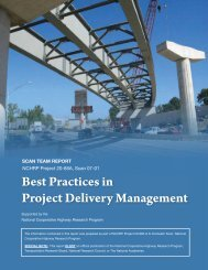 Best Practices in Project Delivery Management - Transportation ...