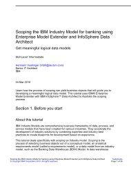 Scoping the IBM Industry Model for banking using Enterprise Model ...