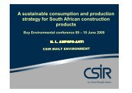 (SCP) Attributes of consumption and production - CSIR Research ...