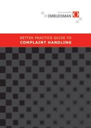 Better Practice Guide to Complaint Handling - Commonwealth ...