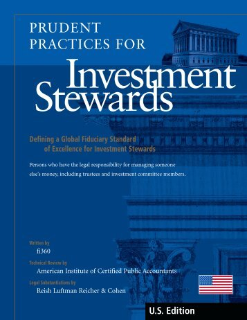 Prudent Practices for Investment Stewards handbook - Fi360
