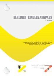 Berliner Kinderzahnpass - Kassenzahnärztliche Vereinigung Berlin