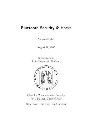 Bluetooth Security & Hacks - GSyC