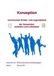 Konzeption der kommunalen Kinder- und Jugendarbeit - Gemeinde ...