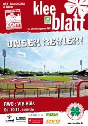 heft 6 - Saison 2012|2013 15. Spieltag - SC Rot-Weiß Oberhausen eV