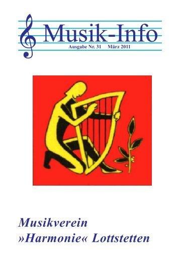 Musik-Info - Musikverein Harmonie Lottstetten