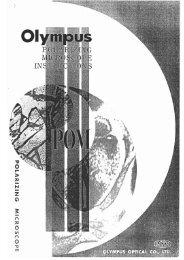 Olympus POM Polarizing Microscope instructions