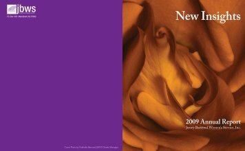 New Insights 2009 Annual Report - Jersey Battered Women's Service