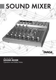 SouNd MixeR - Targa Service Portal