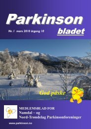 PARKINSONDAGEN – 12. april 2010 Alle innbys herved til å delta i ...
