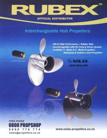 0 8 0 0 7 7 6 7 7 4 www.solas.propellers.co.nz