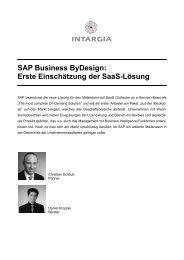 SAP Business ByDesign: Erste Einschätzung der SaaS ... - EconBiz